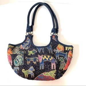 NWOT LAUREL BURCH Animal Print Tapestry Hobo Bag